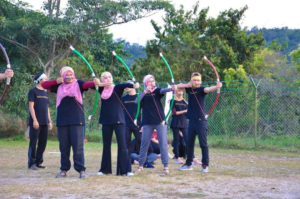 Archery activity for mental focus and motivation